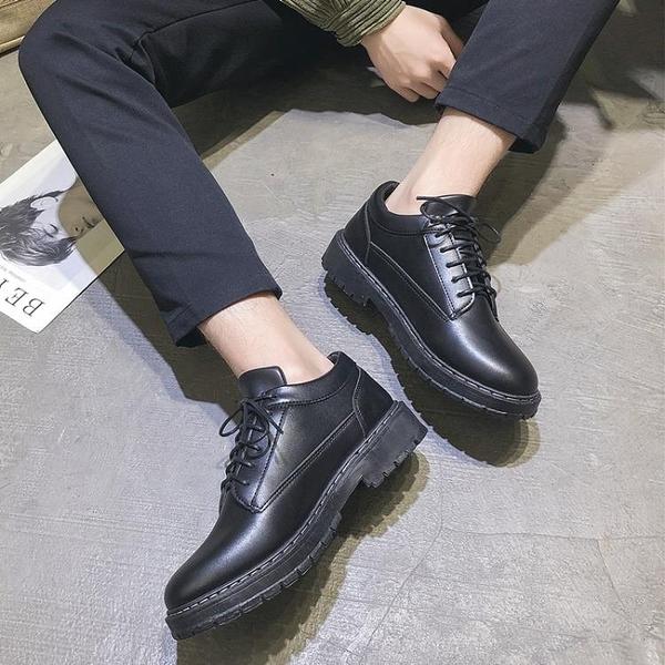夏季英倫皮鞋休閒商務正裝黑色小皮鞋