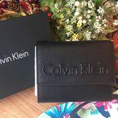 CK Calvin Klein 女中夾立體凸字黑色