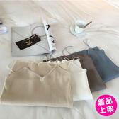 【6003-0516】韓版修身豎紋显顯瘦針織V領性感簡約系吊帶背心(10色)