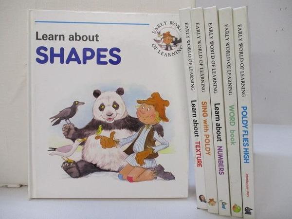 【書寶二手書T1/少年童書_J7X】Laern about SHAPES_WORD book_Sing with POLDY等_6本合售