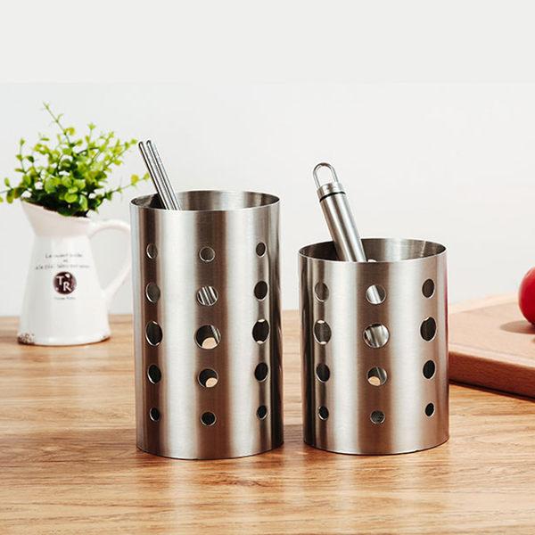 PUSH! 餐具用品 304不銹鋼加厚筷子筒筷子籠筷子收納盒(標準款)E55