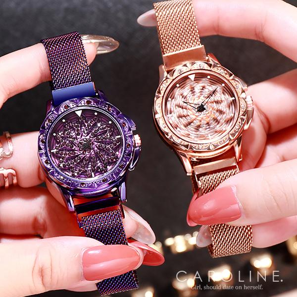 《Caroline》★手錶 新款韓系時尚  時來運轉 網紅星空 手錶 71213