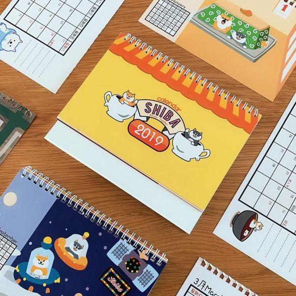 百色町原創shiba inu柴犬2019 calendar台歷桌歷月歷