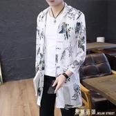 薄款外套 夏季男士防曬衣韓版潮流中長款夾克外套男裝百搭薄款透氣衣服帥氣