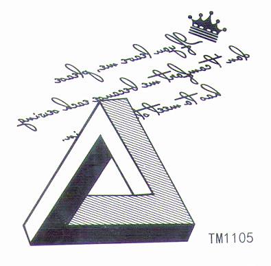 薇嘉雅  抽象符號  超炫圖案紋身貼紙 TM1105