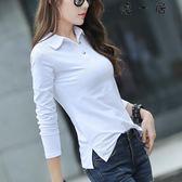 韓版T恤長袖女裝上衣打底polo衫Y-4488