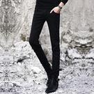 牛仔褲 春季黑色牛仔褲男士韓版修身青少年小腳褲潮流男裝休閒男褲子長褲寶貝計畫 上新