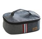 【牛仔便當盒袋】英倫風系列 牛津布鋁膜保溫包 手提飯盒午餐包 保溫保冷袋保溫盒便當袋