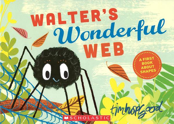 【麥克書店】WALTER'S WONDERFUL WEB/ 平裝繪本《主題: 基礎認知  型狀》