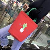 媽咪包 媽咪包小號多功能手提袋子奶瓶包圓筒帆布飯盒包手拎小布包媽媽包 寶貝計畫
