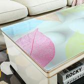 PVC印花茶幾墊客廳軟玻璃桌布防水防燙塑料