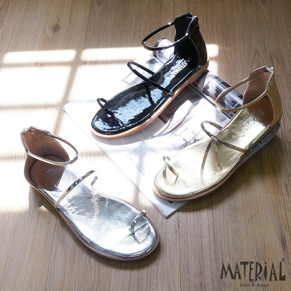 涼鞋 金屬感繞踝涼鞋 MA女鞋 T6388