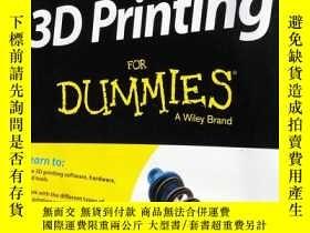 二手書博民逛書店3D罕見Printing FOR DUMMIES A Wiley