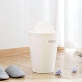 日式搖蓋垃圾桶壓圈家用大號垃圾筒客廳臥室廚房衛生間帶蓋紙簍   LannaS