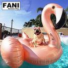 方妮FaNi❤【玫瑰金火鶴游泳圈飄浮床】漂浮板水果浮板水上充氣泳圈充氣床