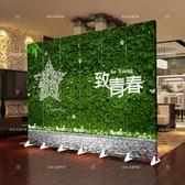 屏風隔斷客廳簡約現代房間移動折疊玄關簡易雙面布藝中式折屏屏風xw【八二折鉅惠】