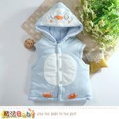 嬰幼兒外套 專櫃款極保暖厚棉連帽背心外套 魔法Baby