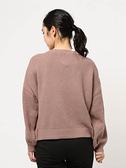 「Hot item」綁帶開襟設計蓬袖針織罩衫 (提醒-SM2僅單一尺寸) - Sm2