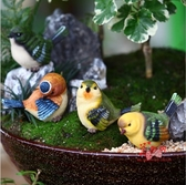 庭院擺件 創意戶外花園庭院裝飾品園藝擺設仿真動物擺件樹脂動物工藝品小鳥T 1色