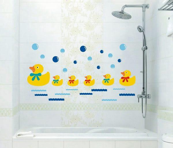 可愛卡通泡泡洗澡鴨 黃色小鴨.壁貼.身高貼.兒童浴室必備 橘魔法 Baby magic 現貨
