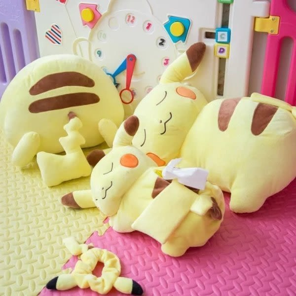 【發現。好貨】日本pokemon寶可夢神奇寶貝皮卡丘 公仔 娃娃 面紙盒套 禮物 抱枕