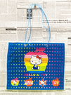 【震撼精品百貨】Hello Kitty 凱蒂貓~日本SANRIO三麗鷗KITTY塑膠袋/購物袋-星星蘋果*82913