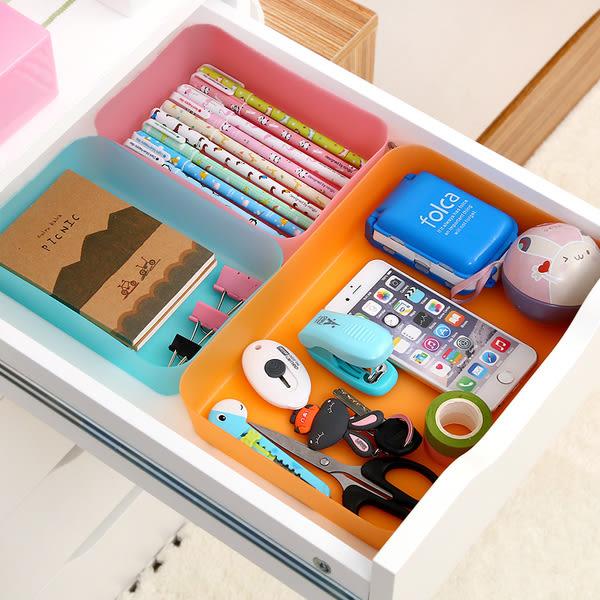 ♚MY COLOR♚炫彩抽屜多用整理盒 日式 廚房 餐具 文具 雜物 分類 儲物盒 創意 ( S )【A06】
