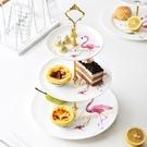點心架 歐式多層水果盤創意網紅火烈鳥三層蛋糕架點心甜品臺現代客廳家用