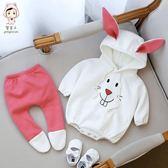 【618好康又一發】寶寶3連體衣6個月嬰兒爬服褲子套裝女童