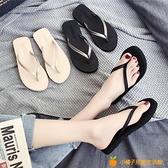 人字拖女外穿時尚夾腳拖鞋防滑沙灘海邊ins潮夏涼拖【小橘子】