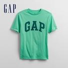 Gap男童 Logo純棉圓領短袖T恤 867908-綠色