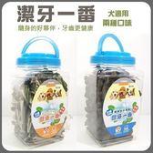 *KING WANG*【潔牙一番】日本Fresh Bones機能牙刷造型潔牙骨S號-葉綠素1500g(家庭號桶裝)