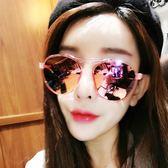 墨鏡女潮圓臉韓國優雅眼鏡圓形個性太陽鏡女士 〖korea時尚記〗