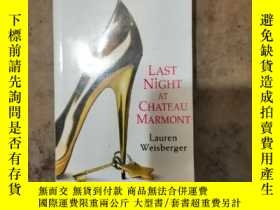 二手書博民逛書店LAST罕見NIGHT AT CHAEAU MARMONTY26