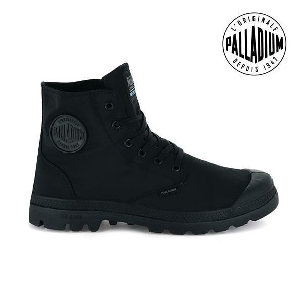 【南紡購物中心】【PALLADIUM】PAMPA PUDDLE LITE+WP 輕量雨傘布防水靴 / 黑 男女鞋