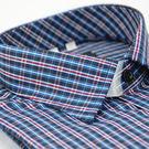 【金‧安德森】紅藍格紋窄版長袖襯衫...