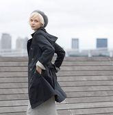 風衣式雨衣(條紋袖口)Trench Coat