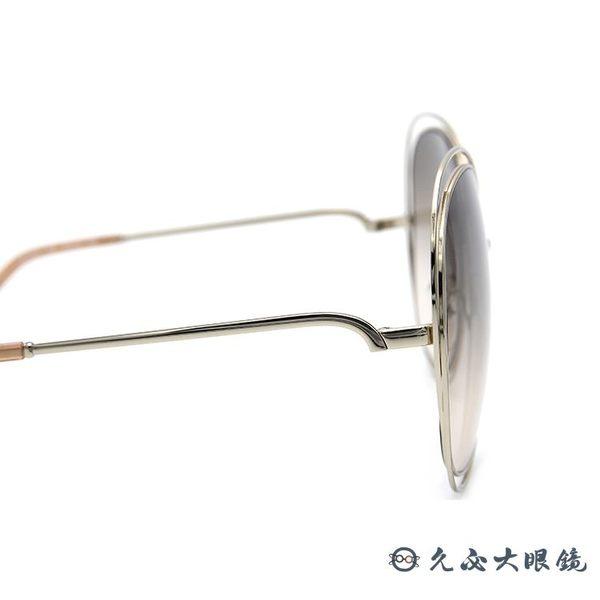 Chloe墨鏡 CE126S 724 (淺金) 孫芸芸配戴款 簍空金屬 大框 太陽眼鏡 久必大眼鏡