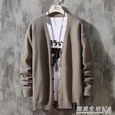男士針織衫開衫秋冬季新款男裝外套韓版潮流日系毛衣個性線衣 遇見生活