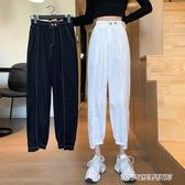 工裝褲 褲子女新款夏季薄款高腰顯瘦休閒九分褲寬鬆束腳工裝哈倫褲潮 傑克