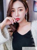 耳環女韓國氣質個性百搭耳墜網紅設計感小眾長款耳飾 韓慕精品