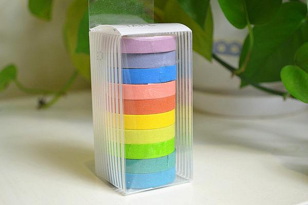 【BlueCat】日韓DIY彩色糖果樂園和紙膠帶10入組