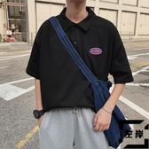 男Polo衫短袖T恤男寬松半袖體恤打底衫立領【左岸男裝】