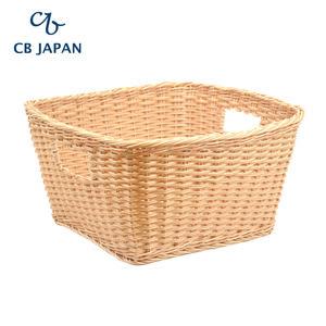 CB Japan 巴黎系列仿藤編洗衣籃M-自然色