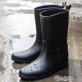 雨靴 秋冬雨鞋雨靴女韓國時尚水鞋中筒女水靴防滑成人套鞋可愛膠鞋2019