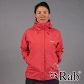 【RAB 英國】DOWNPOUR 女 單件式 防水外套『珊瑚紅』QWF63 雨衣│釣魚外套│慢跑路跑外套