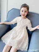 兒童公主裙女童連身裙2020新款夏裝網紅女孩童裝蕾絲裙子夏季洋氣兒童公主裙