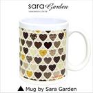 客製化 陶瓷 馬克杯 咖啡杯 愛心水玉圓點 普普風 Sara Garden 交換禮物 聖誕