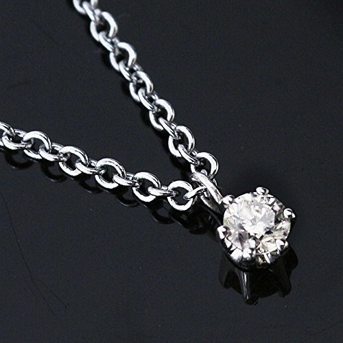 One&Only Jewellery【日本代購】0.1 CT G 、 H 色Pt 鉑金天然鑽石項鍊吊墜【附鑑定證書】16042601