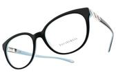 Tiffany&CO.眼鏡 TF2145 8055 (黑-蒂芬妮綠) 經典浪漫愛心款 # 金橘眼鏡